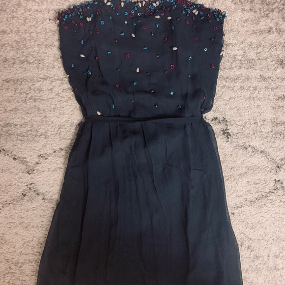 French Connection Dresses & Skirts - French Connection - beaded strapless dress 💓